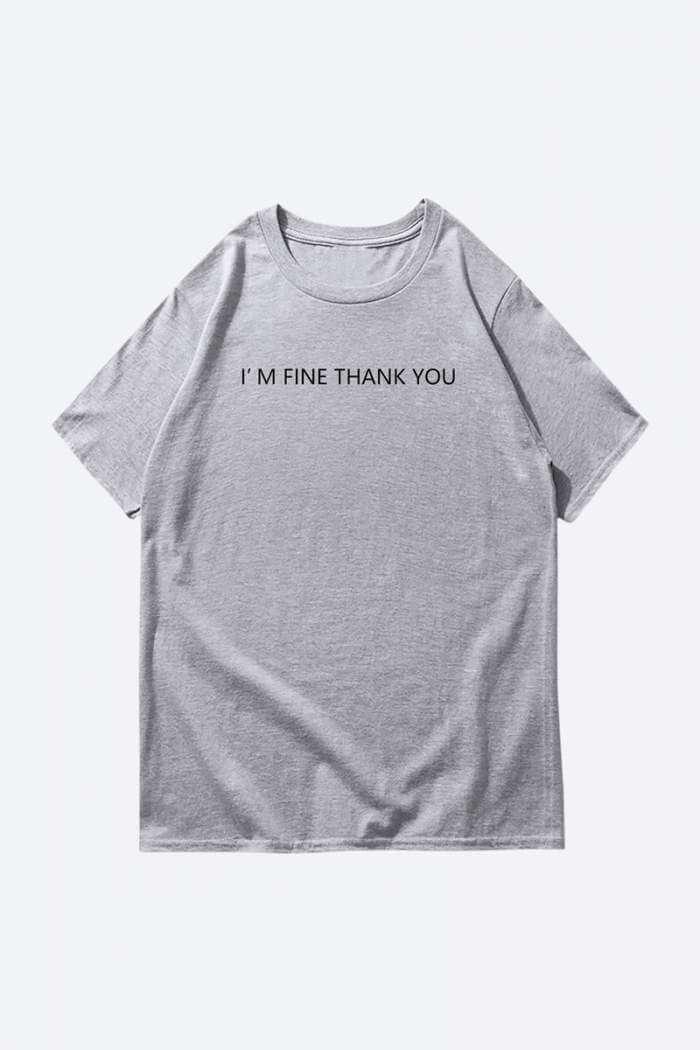 minimalist grey t shirt print