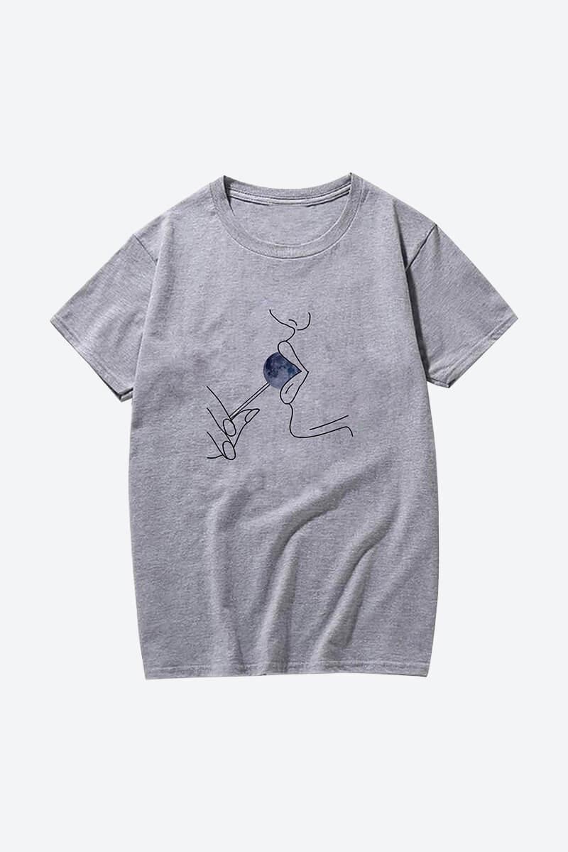 Women's Minimalist Line Art T-Shirts
