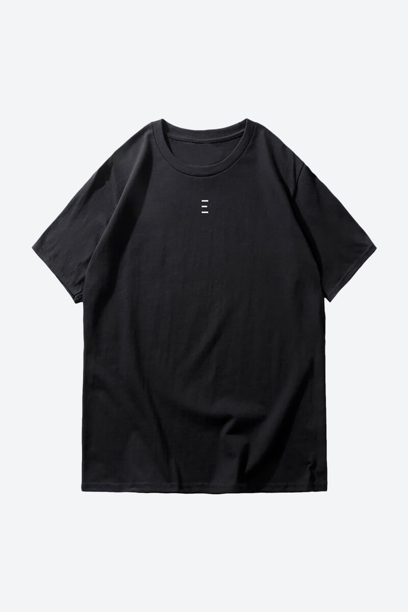 minimalist black plain t shirt print for men