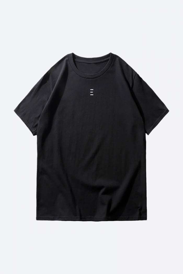 Shop One Line Plain Black T-Shirts Online