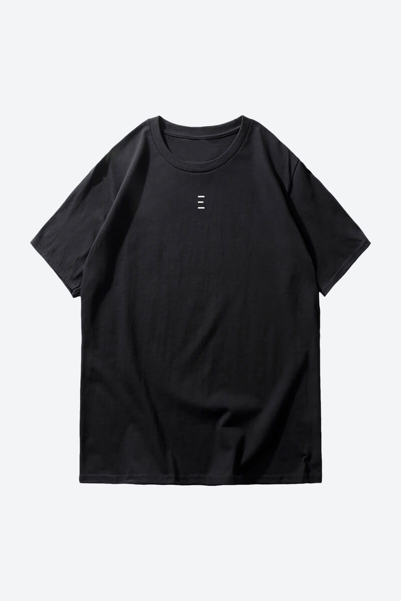 Shop One Line Plain Black T-Shirts Online