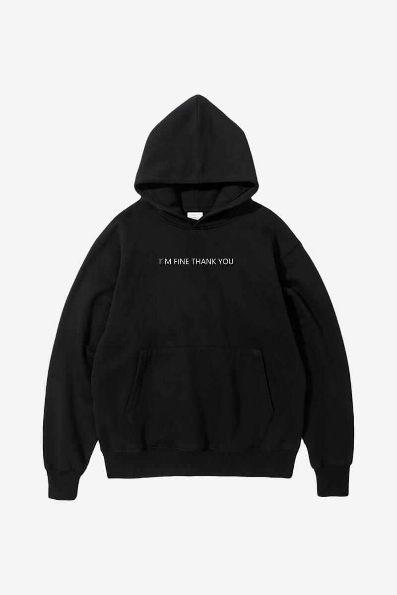 minimalist black plain hoodie