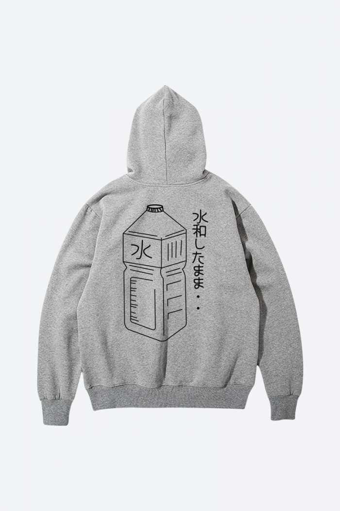 minimalist milk design print hoodie