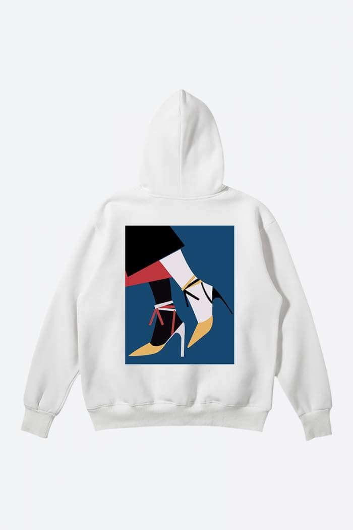 Womens Streetwear Outfits Printed Heels Hoodie
