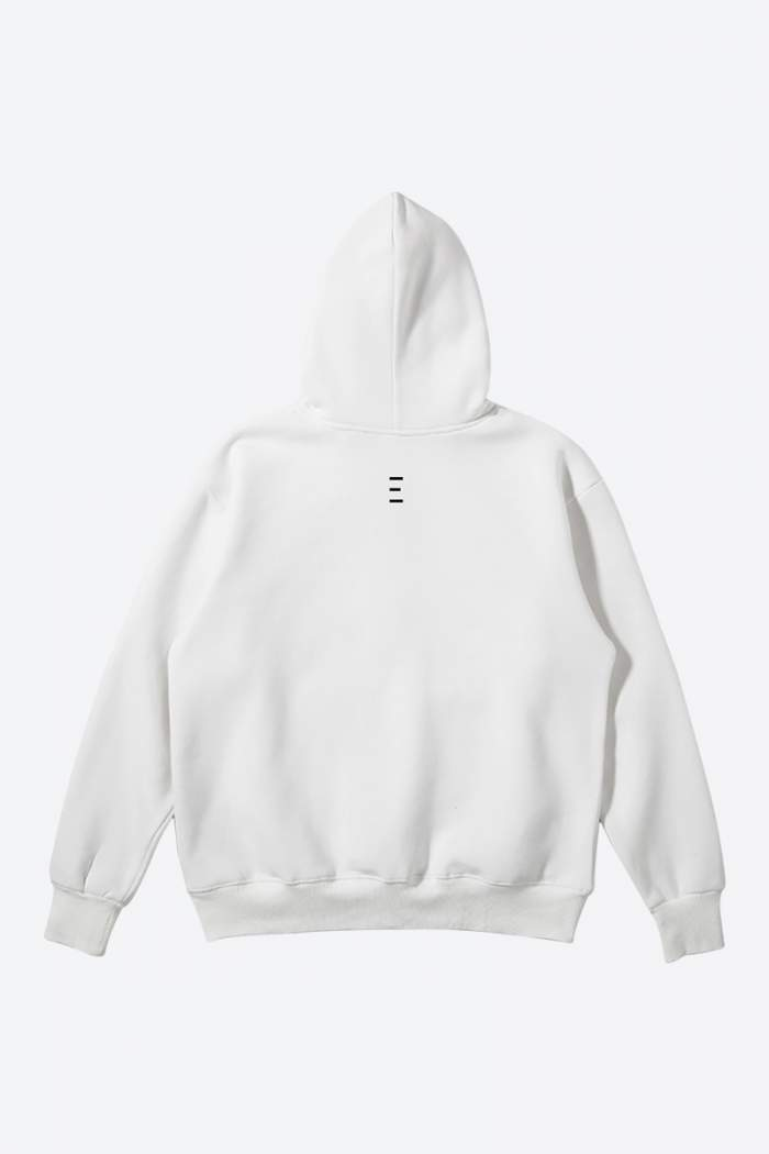Minimalist Graphic White Color Hoodie