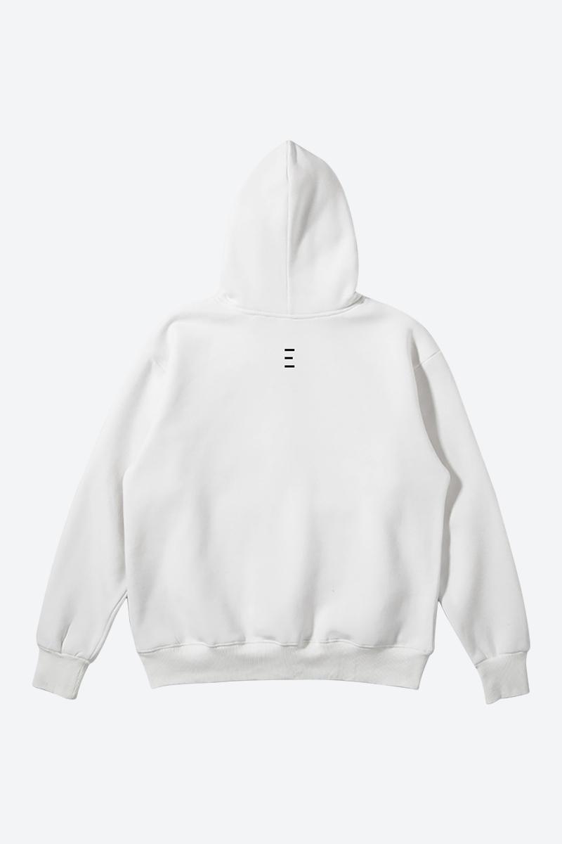 Minimalist Graphic White Color Hoodie