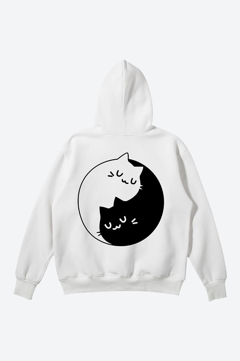 Shop minimalist white cool hoodie